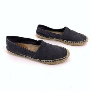 J.Crew Espadrilles Loafers Size 8 Black Slip On